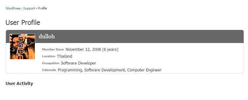 Member Since November 12, 2008